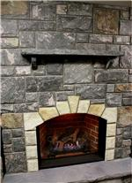 Facade of fireplace Muskoka Grey