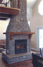Fireplace made ​​of thin stone Buck Skin